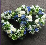 DOBLE BLUE WHITE HEART